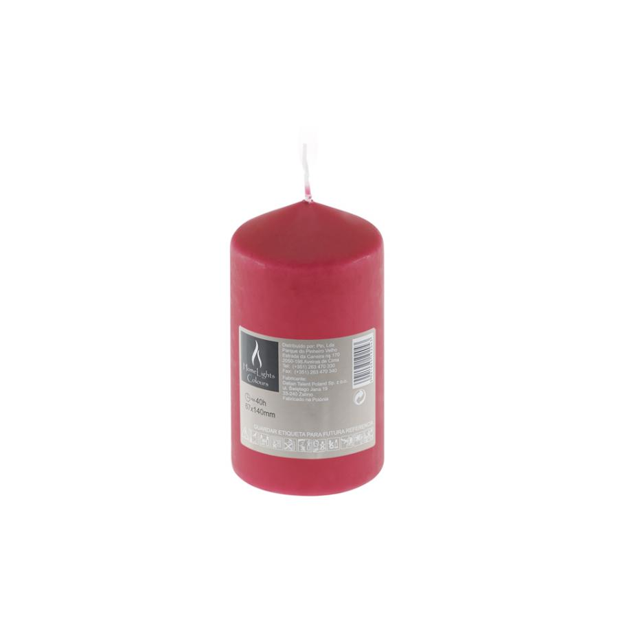 Vela HOME LIGHT Vermelho (40h) - Vela decorativa.