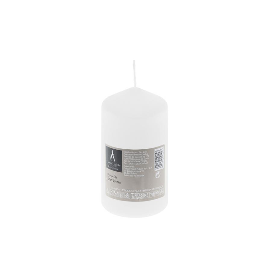 Vela HOME LIGHT Branco (40h) - Vela decorativa.