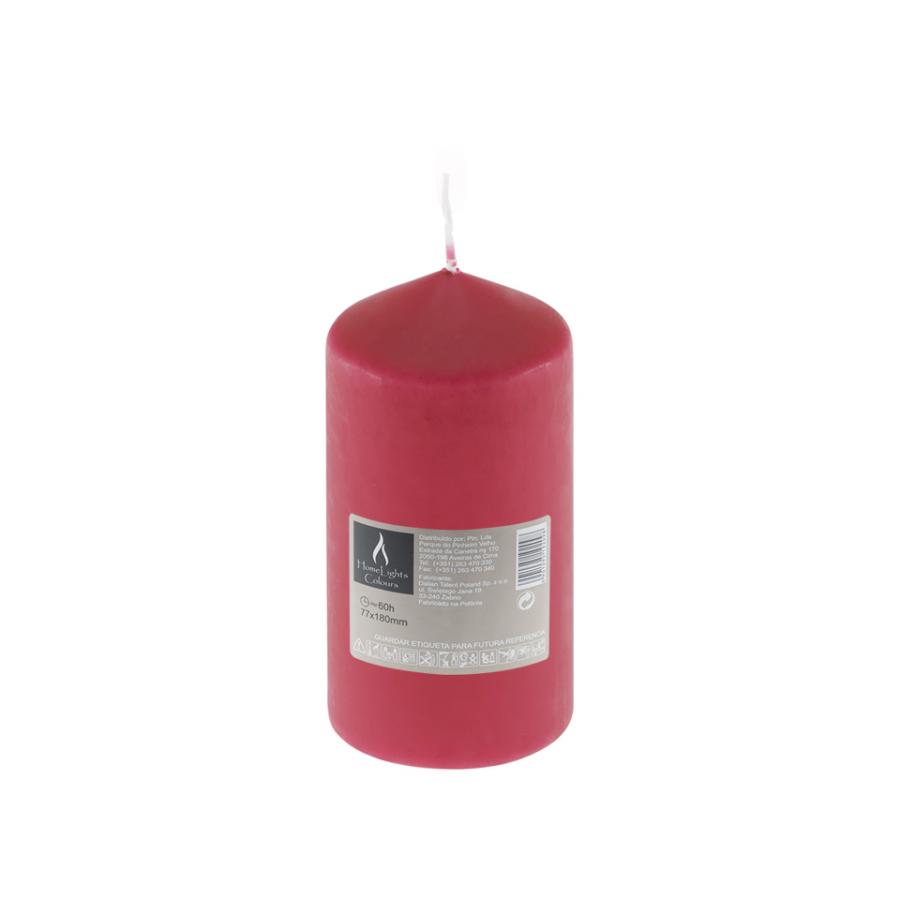 Vela HOME LIGHT Vermelho (60h) - Vela decorativa.