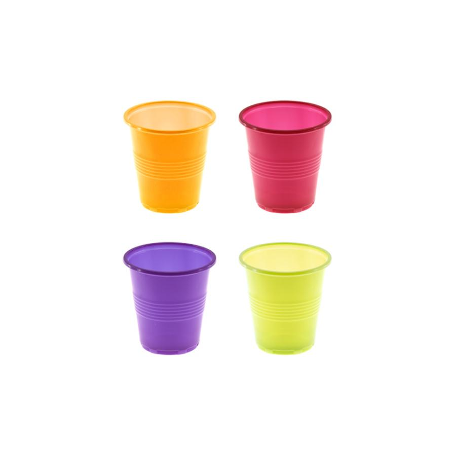 Conjunto de copos (80ml) PARTY CUPS Cores